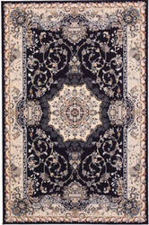 Eastern Rugs Tabriz Medallion Fl51nv Blue Area Rug