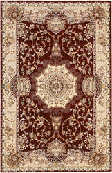 Eastern Rugs Tabriz Medallion Fl51rd Red Area Rug