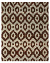 Eastern Rugs Ikat Ie22bl Brown Area Rug
