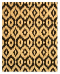Eastern Rugs Ikat Ie27bk Black Area Rug