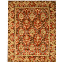 Eastern Rugs Modern Antique Ie31rd Red Area Rug