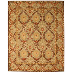Eastern Rugs Modern Antique Ie32gn Green Area Rug