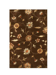Eastern Rugs Charlotte Ie37bn Brown Area Rug