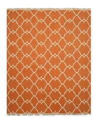 Eastern Rugs Reversible Moroccan Outdoor Ie51or Orange Area Rug