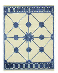 Eastern Rugs Lattice Ie63bl Ivory Area Rug