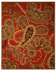 Eastern Rugs Paisley Sht14rd Red Area Rug