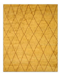 Eastern Rugs Trellis Moroccan Sht22gd Gold Area Rug