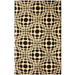 Eastern Rugs Black And White T105bk Black Area Rug