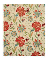 Eastern Rugs Spring Garden T115iv Ivory Area Rug