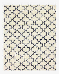 Eastern Rugs Moroccan Shaggy T129iv Ivory Area Rug
