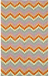 Eastern Rugs Reversible Flatweave Chevron T144mu Multicolored Area Rug
