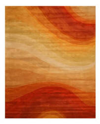 Eastern Rugs Red Desert T90or Orange Area Rug