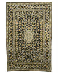 Eastern Rugs Kashan X34740 Navy Area Rug