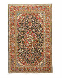 Eastern Rugs Kashan X34777 Navy Area Rug