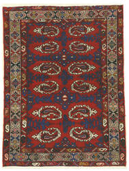Eastern Rugs Hamadan X34848 Red Area Rug