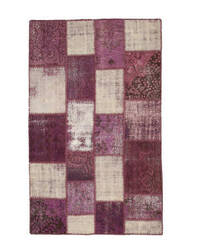 Eastern Rugs Turkish Patchwork X35339 Purple Area Rug