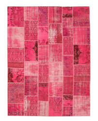 Eastern Rugs Turkish Patchwork X35355 Pink Area Rug
