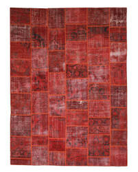 Eastern Rugs Turkish Patchwork X35927 Rust Area Rug