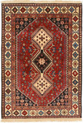 Eastern Rugs Yalameh X36065 Red Area Rug