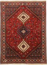 Eastern Rugs Yalameh X36086 Red Area Rug