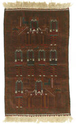 Eastern Rugs Baluchi Yz424 Brown Area Rug