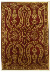Eastern Rugs Indo-Nepal Yz463 Red Area Rug