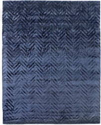 Exquisite Rugs Smooch Carved Hand Woven 10042 Blue Area Rug