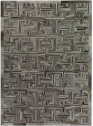 Exquisite Rugs Natural Hair on Hide Gray - Brown Area Rug