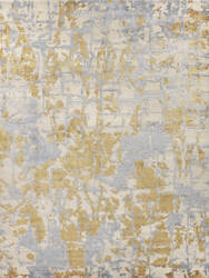 Exquisite Rugs Cecily Hand Knotted Gold Area Rug