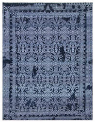 Exquisite Rugs Lexington Hand Knotted Denim Blue - Light Blue Area Rug