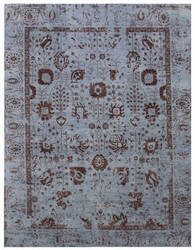 Exquisite Rugs Lexington Hand Knotted Blue - Rust Area Rug