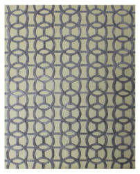 Exquisite Rugs Windsor Hand Woven Blue - Beige Area Rug