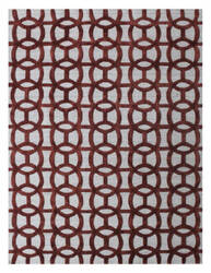 Exquisite Rugs Windsor Hand Woven Rust - Gray Area Rug