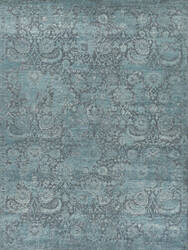 Exquisite Rugs Meena Hand Knotted 2466 Gray - Blue Area Rug