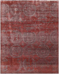 Exquisite Rugs Fine Mamluk Hand Knotted Red Area Rug