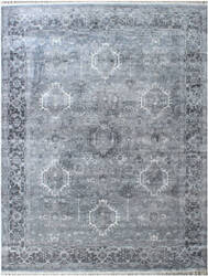 Exquisite Rugs Windsor Hand Woven Silver Area Rug