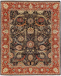 Exquisite Rugs Serapi Hand Knotted Navy Area Rug