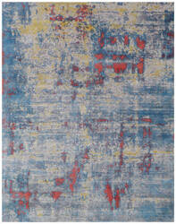 Exquisite Rugs Antolini Hand Woven Blue Area Rug