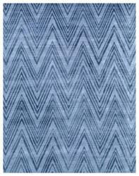 Exquisite Rugs Reflections Hand Woven Blue - Denim Area Rug