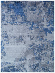 Exquisite Rugs Antolini Hand Woven Silver Area Rug