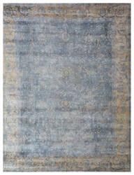 Exquisite Rugs Cassina Hand Woven Blue - Silver Area Rug