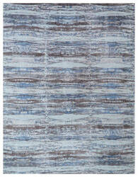 Exquisite Rugs Reflections Hand Woven Brown - Blue Area Rug