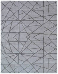 Exquisite Rugs Roset Hand Woven Silver Area Rug