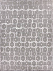 Exquisite Rugs Moreno Hand Knotted Gray - Silver Area Rug