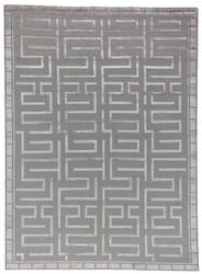 Exquisite Rugs Moreno Hand Knotted 3042 Silver Area Rug
