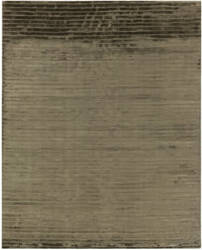 Exquisite Rugs Wave Hand Woven Khaki Area Rug