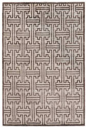 Exquisite Rugs Ikat Hand Knotted Ivory - Dark Brown Area Rug