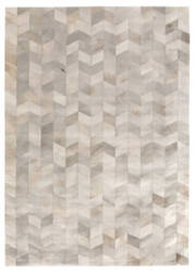 Exquisite Rugs Natural Hair on Hide Ivory - Silver Area Rug