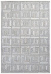 Exquisite Rugs Berlin Hair on Hide 3419 Silver - Ivory Area Rug