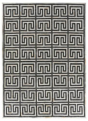 Exquisite Rugs Berlin Hair on Hide Charcoal - Ivory Area Rug